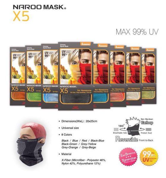 ผ้าบัพ Naroo Mask X5